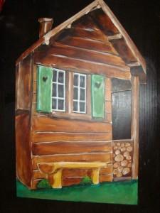 Waldhütte Holz
